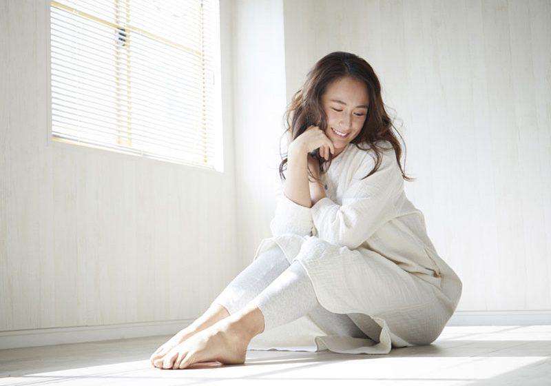ダブルガーゼ パジャマ ワンピース レディース 長袖(9分袖) 日本製 blissful/ブリスフル